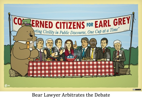 Bear Lawyer Arbitrates the Debate