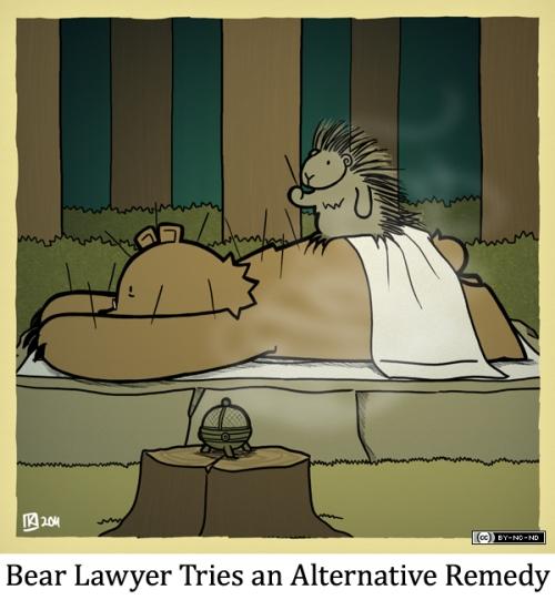 Bear Lawyer Tries an Alternative Remedy