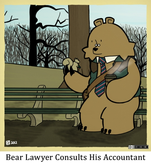 Bear Lawyer Consults His Accountant