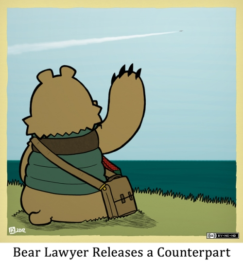 Bear Lawyer Releases a Counterpart