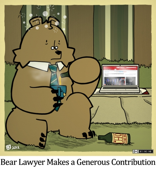 Bear Lawyer Makes a Generous Contribution