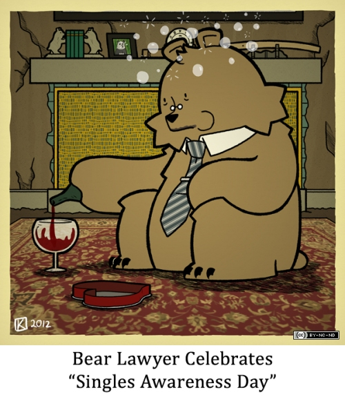 "Bear Lawyer Celebrates ""Singles Awareness Day"""