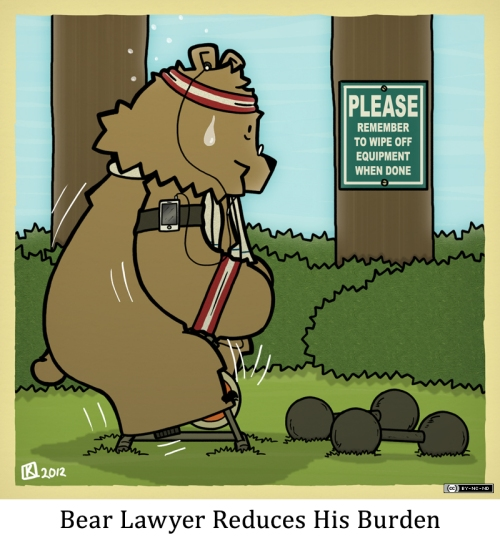 Bear Lawyer Reduces His Burden