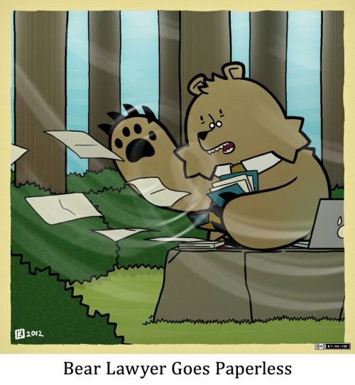 Bear Lawyer Goes Paperless