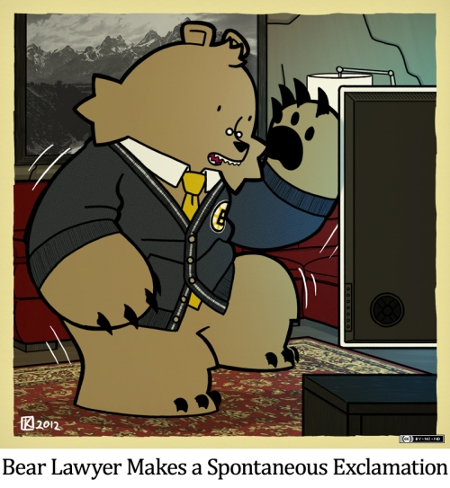 Bear Lawyer Makes a Spontaneous Exclamation