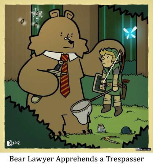 Bear Lawyer Apprehends a Trespasser