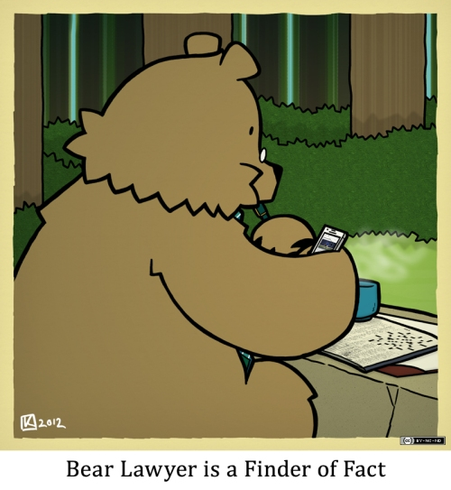 Bear Lawyer is a Finder of Fact