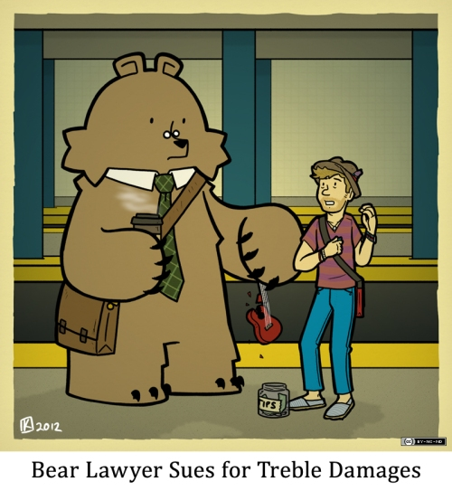 Bear Lawyer Sues for Treble Damages