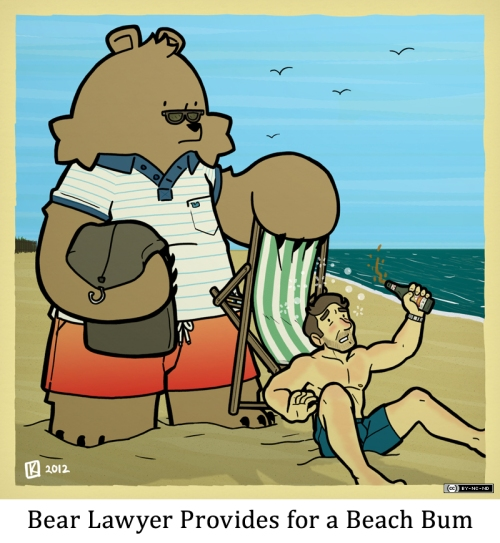 Bear Lawyer Provides for a Beach Bum