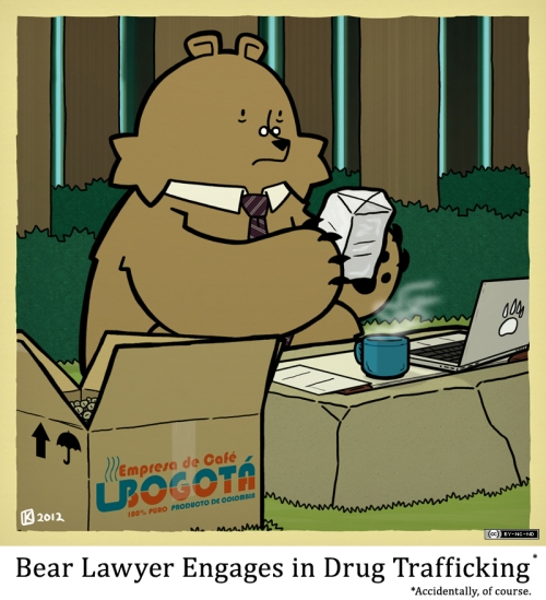 Bear Lawyer Engages in Drug Trafficking (accidentally, of course)
