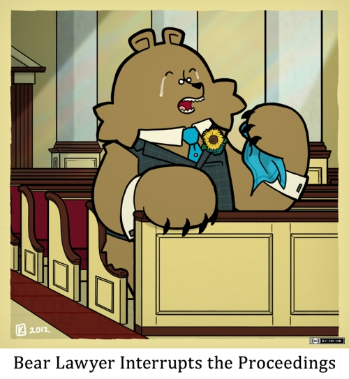 Bear Lawyer Interrupts the Proceedings