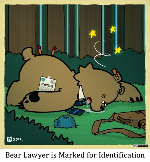 Bear Lawyer is Marked for Identification
