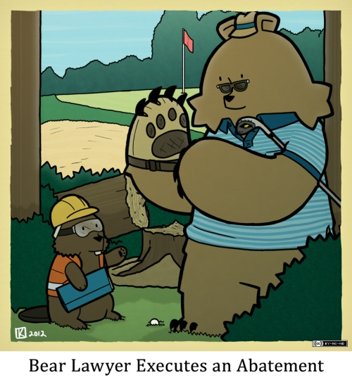 Bear Lawyer Executes an Abatement