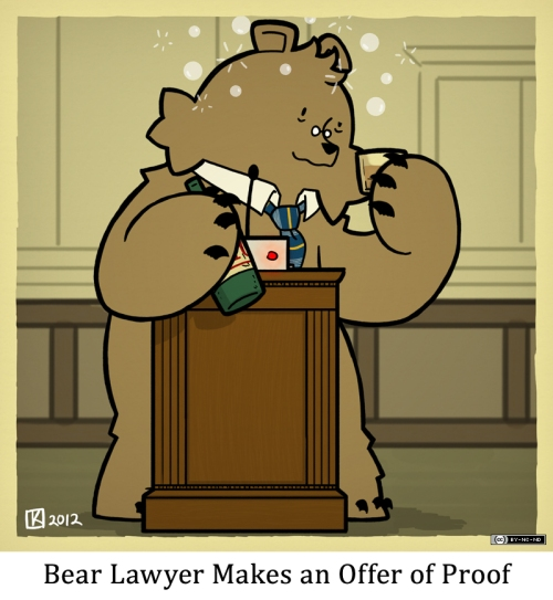 Bear Lawyer Makes an Offer of Proof