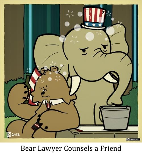 Bear Lawyer Counsels a Friend