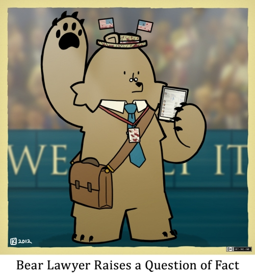 Bear Lawyer Raises a Question of Fact