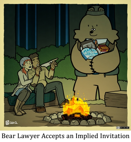 Bear Lawyer Accepts an Implied Invitation