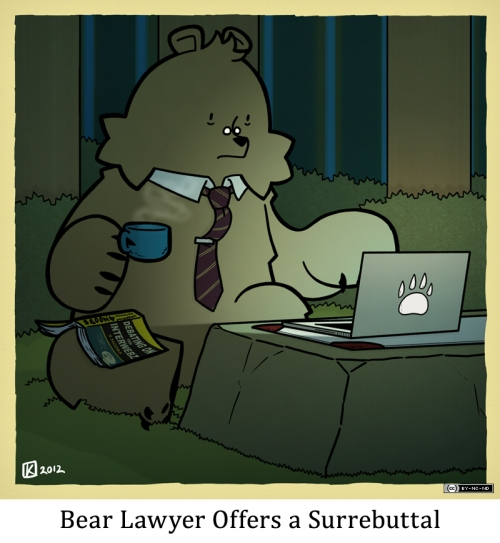 Bear Lawyer Offers a Surrebuttal