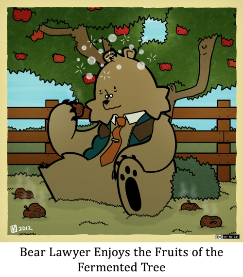 Bear Lawyer Enjoys the Fruits of the Fermented Tree