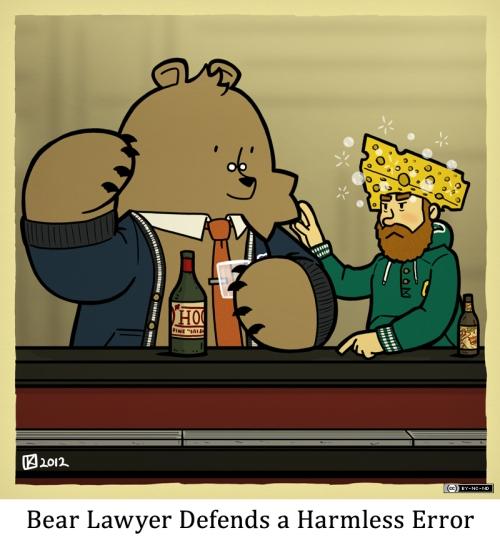 Bear Lawyer Defends a Harmless Error