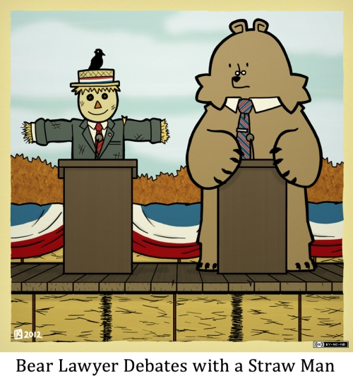 Bear Lawyer Debates with a Straw Man