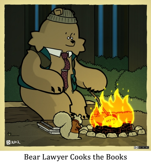 Bear Lawyer Cooks the Books