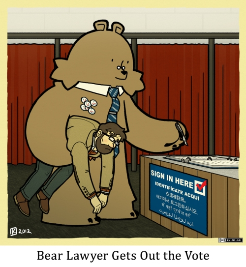 Bear Lawyer Gets Out the Vote