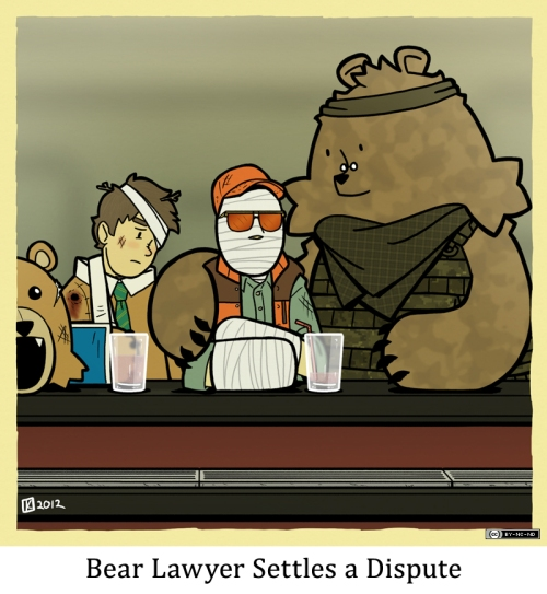 Bear Lawyer Settles a Dispute