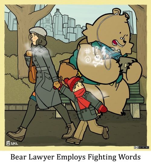 Bear Lawyer Employs Fighting Words