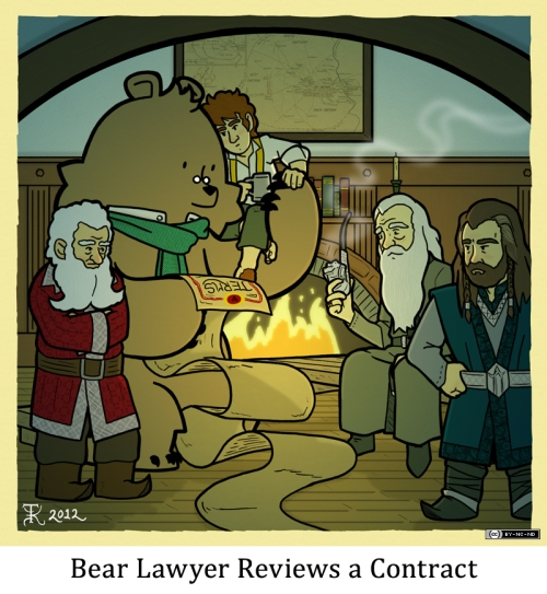 Bear Lawyer Reviews a Contract