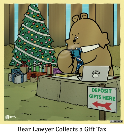 Bear Lawyer Collects a Gift Tax