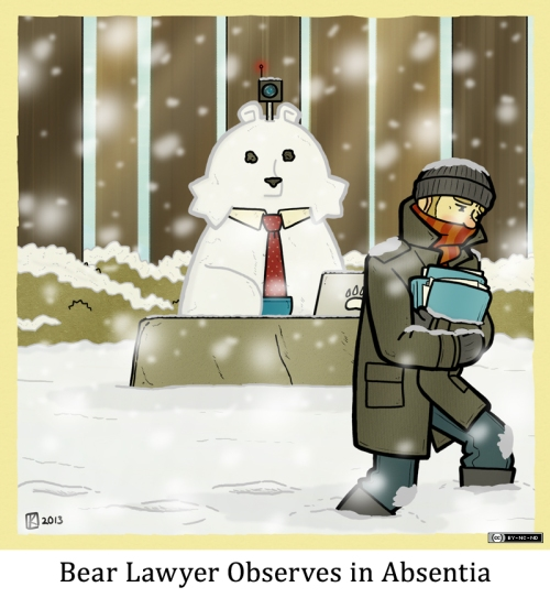 Bear Lawyer Observes in Absentia