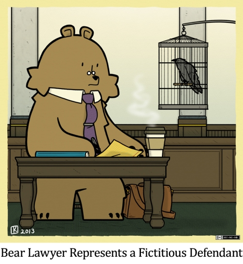 Bear Lawyer Represents a Fictitious Defendant
