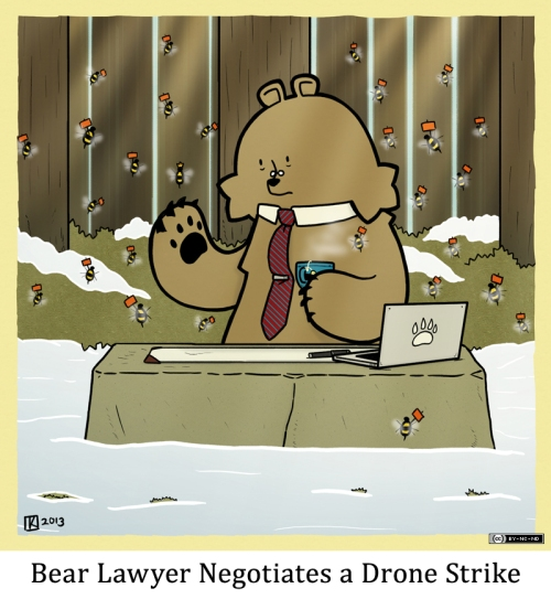 Bear Lawyer Negotiates a Drone Strike
