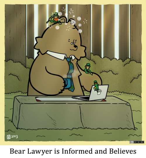 Bear Lawyer is Informed and Believes