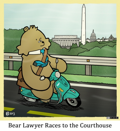 Bear Lawyer Races to the Courthouse