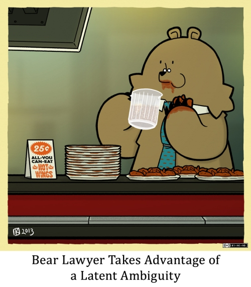 Bear Lawyer Takes Advantage of a Latent Ambiguity