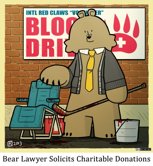 Bear Lawyer Solitics Charitable Donations