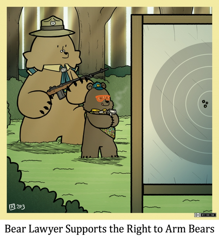 353BL - As the saying goes, the only thing that can stop a bad guy with a gun is a bear cub with a gun. Or something.