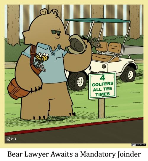 Bear Lawyer Awaits a Mandatory Joinder