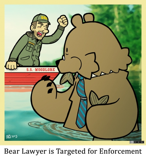 Bear Lawyer is Targeted for Enforcement