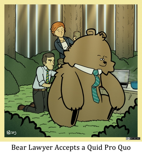 Bear Lawyer Accepts a Quid Pro Quo