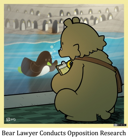 Bear Lawyer Conducts Opposition Research