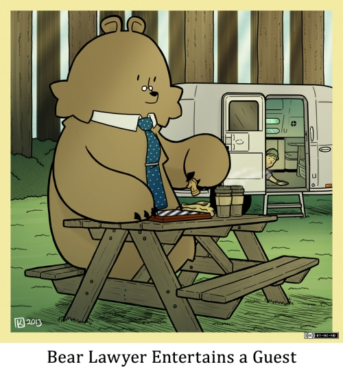 Bear Lawyer Entertains a Guest