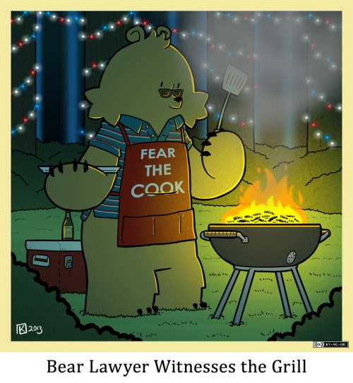 Bear Lawyer Witnesses the Grill