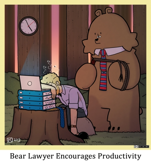 Bear Lawyer Encourages Productivity