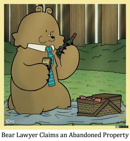 Bear Lawyer Claims an Abandoned Property