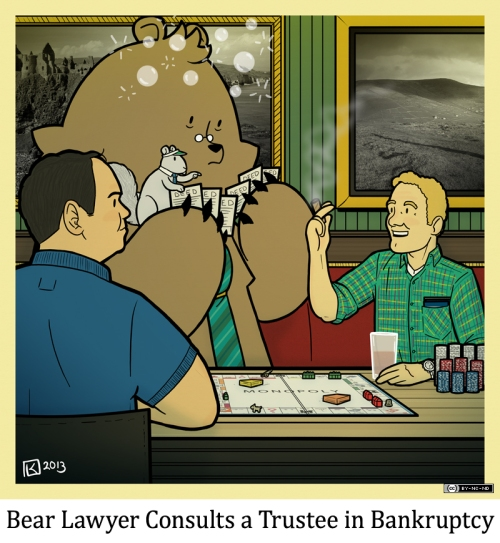 Bear Lawyer Consults a Trustee in Bankruptcy