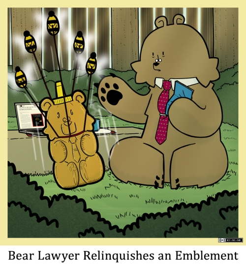 Bear Lawyer Relinquishes an Emblement