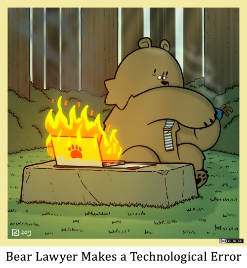 Bear Lawyer Makes a Technological Error